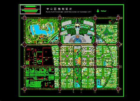 free download autocad layout plan center city district plans free download