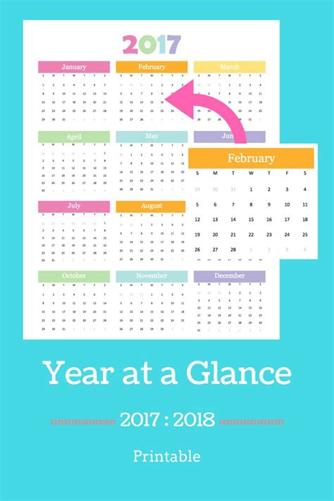 1000 ideas about printable yearly calendar on pinterest