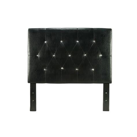 twin leather headboard furniture of america kylen twin tufted leather headboard