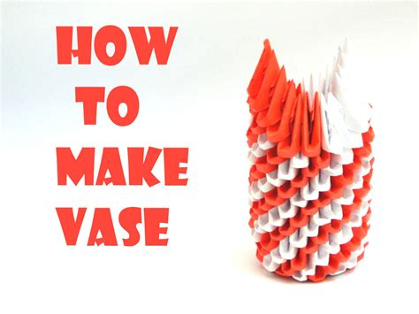 How To Make A Paper Vase - how to make vase hd all