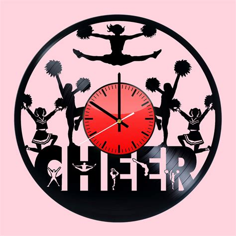 clock made of clocks cheer handmade vinyl record wall clock fan gift vinyl clocks
