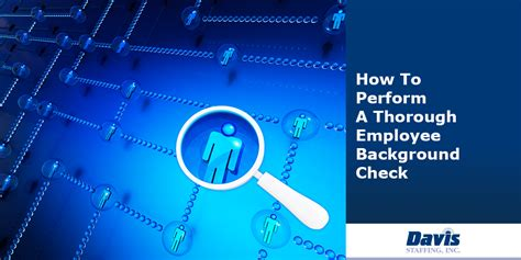 How To Perform Background Check How To Perform A Thorough Employee Background Check