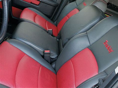dodge ram seat upholstery 2009 dodge ram upgrades katzkin seat covers truckin