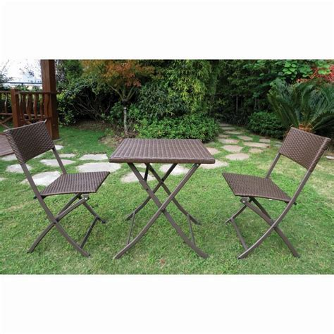patio furniture danbury ct danbury 3 folding rattan set garden furniture buy at qd stores
