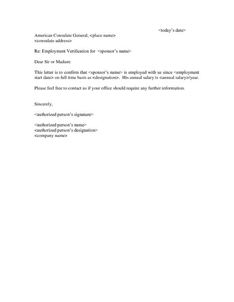 Reference Letter For Employment Verification Sle Reference Letter From Employer For Apartment