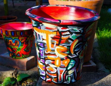 Garden Pot Painting Ideas Garden Ideas By Artist Chris Todd