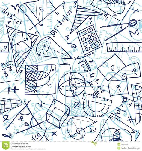 maths pattern drawing mathematics seamless pattern stock vector image 28820383