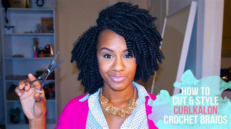 how to style and cut crochet braids with marley hair crochet braids how to cut and style curlkalon crochet