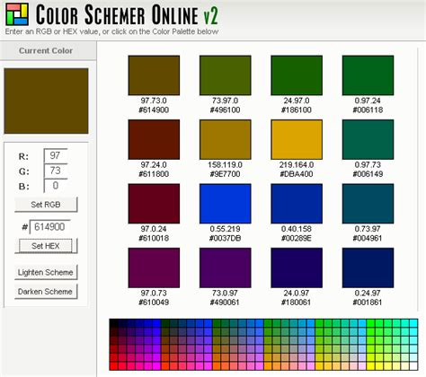 good color schemes color combinations lgr internet solutions