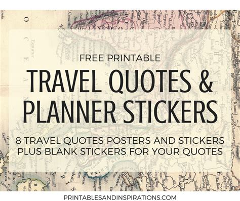 printable travel quotes travel quotes free printable art and planner stickers