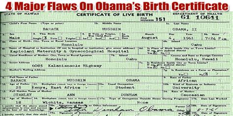 Obama Birth Records Birther Of A Nation