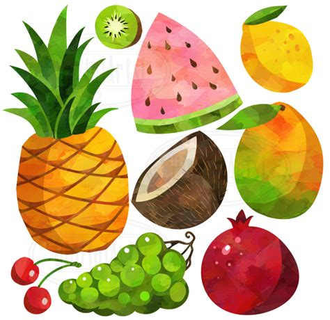 Watercolor Fruits Clipart By Digitalartsi Thehungryjpegcom | watercolor fruits clipart by digitalartsi thehungryjpeg com