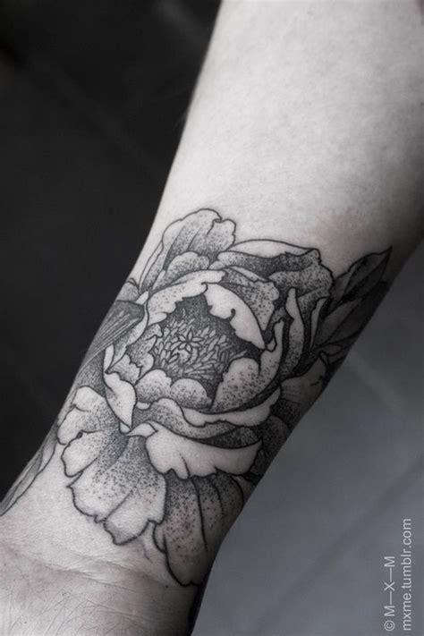 peony tattoo black and grey peonies tattoo tattoo black and peonies on pinterest