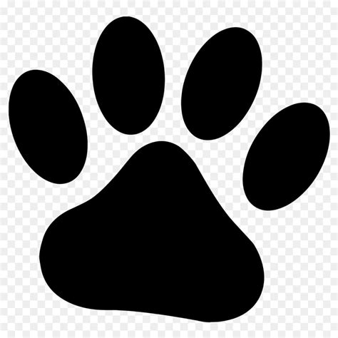 dog paw cougar drawing clip art paw prints