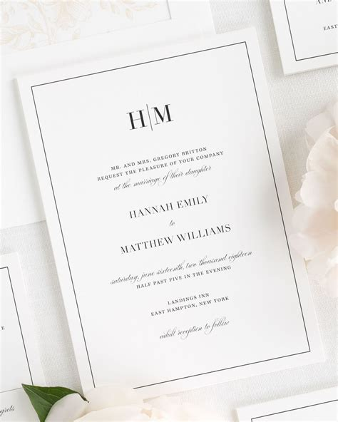 glam monogram wedding invitations wedding invitations by - Monogram Wedding Invitations