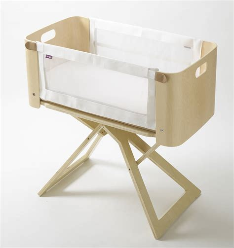 bedside crib and travel cot by lula sapphire