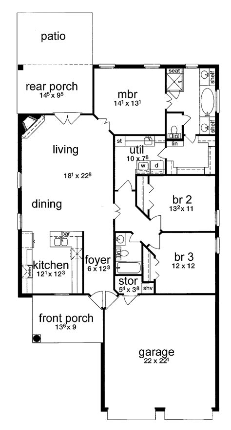 simple floor plan with dimensions simple house plans wonderful 2 bedroom bath car garage