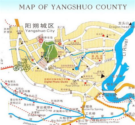 glimpses of china and homes classic reprint books map of yangshuo country guilin yangshuo international