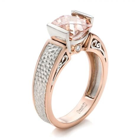 custom two tone morganite engagement ring 102288