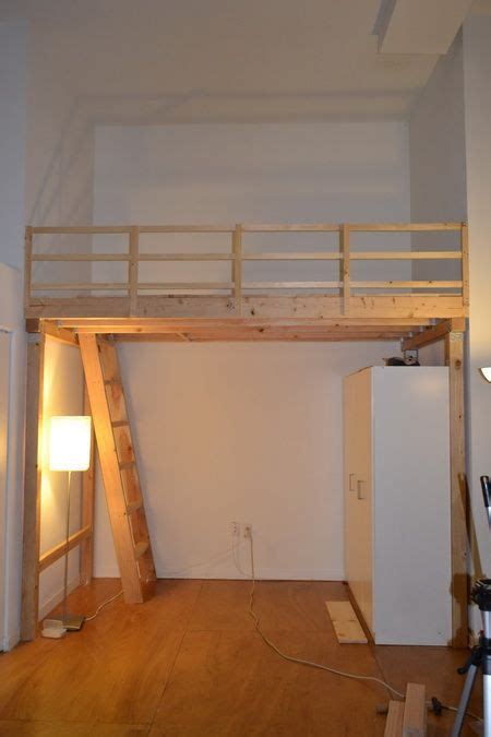 diy bedroom loft we then built our top railing using 1x2 wood and installed