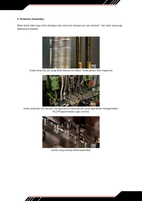 Rantai Sepeda 8 intip sekilas proses pembuatan rantai sepeda di pabrik