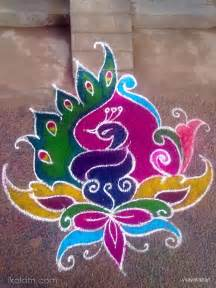 Colour Of The Year 2016 rangoli free hand rangoli bird www ikolam com