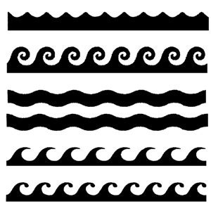 wave pattern line drawing waves stencil clipart best