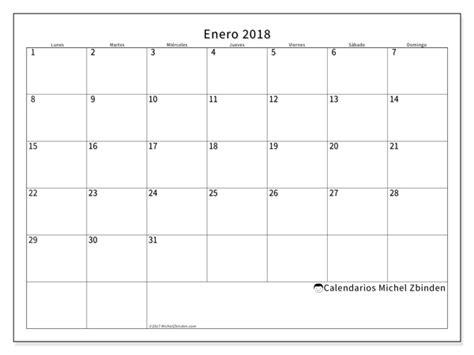 Calendario 2018 Enero Calendario Para Imprimir Enero 2018 Horus Mundo