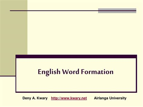 patterns of english word formation ppt english word formation powerpoint presentation id