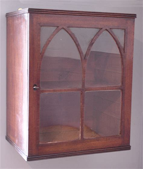 small antique glazed wall cupboard antique wall hanging