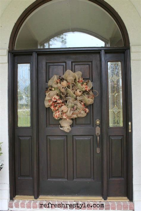 How To Stain Your Front Door Refresh Restyle How To Stain Front Door