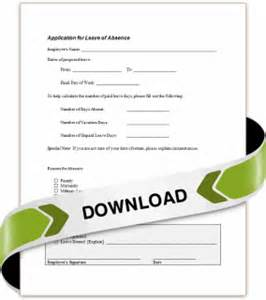 employee leave of absence application