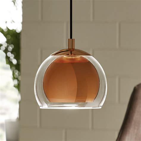 copper and glass pendant light rocamar copper and glass single pendant