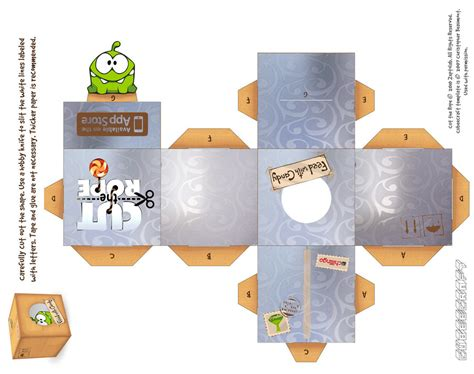 Cut The Rope Papercraft - om nom foil box cubeecraft by viperfan14 on deviantart