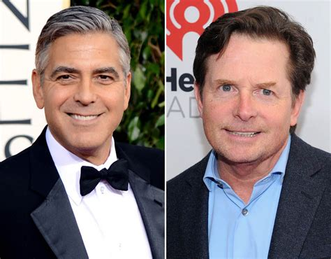 michael j fox how old george clooney and michael j fox are both 55 years old