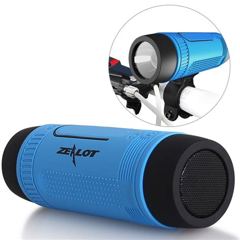 Speaker Zealot zealot s1 bluetooth speaker portable subwoofer power bank rechargeable with led light for