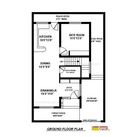 50 square yard home design house plan for 30 feet by 45 feet plot plot size 150