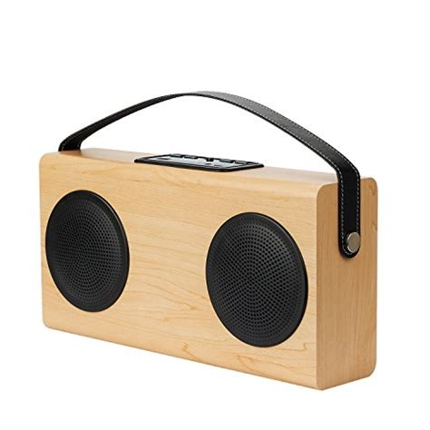 amazon com vaux cordless home speaker portable battery for archeer portable bluetooth speaker wood grain wireless