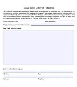 Eagle Scout Recommendation Letter Template by Sle Eagle Scout Letter Of Recommendation 9