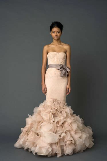 vera wang corset wedding dresses vera wang quot quot pink strapless mermaid gown with corset