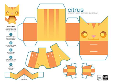 Papercraft Cats - tubbypaws papercraft cat images