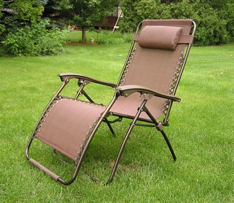 wide lounge chair delux wide zero gravity lawn chair brown patio