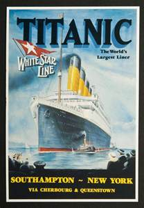 rms titanic white star line posters
