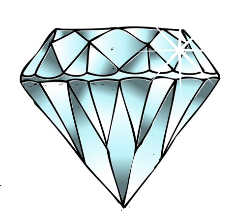diamond drawing chele jewelry clipart best clipart