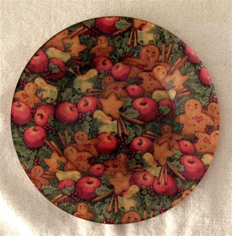 Decoupage Plates With Fabric - items similar to decorative decoupage fabric backed
