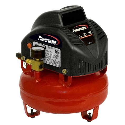 powermate 1 gal portable electric air compressor vnp0000101 01 the home depot