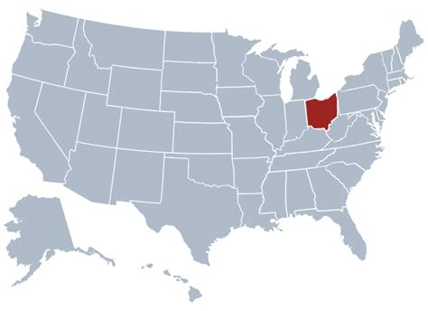 ohio on a map of the united states ohio state information symbols capital constitution