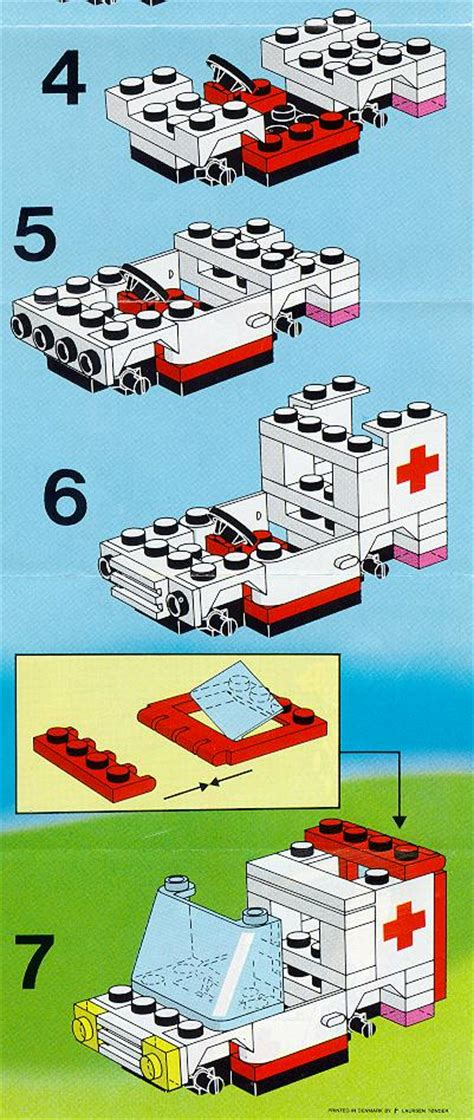 Small Home Plan lego small ambulance instructions 6523 rescue