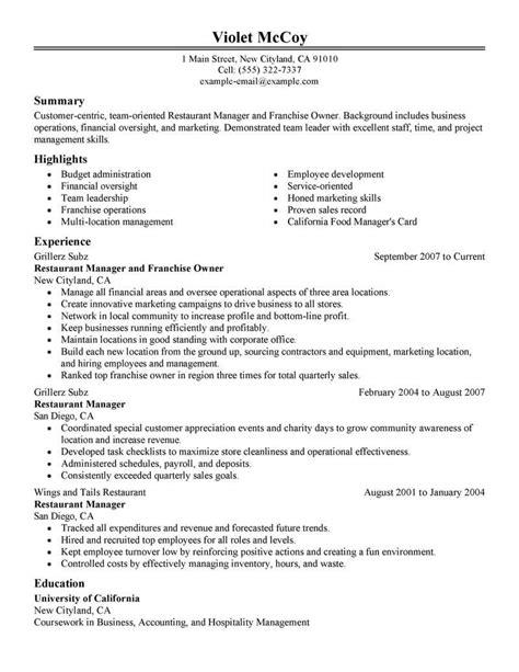 resume sle business owner sle resume business owner