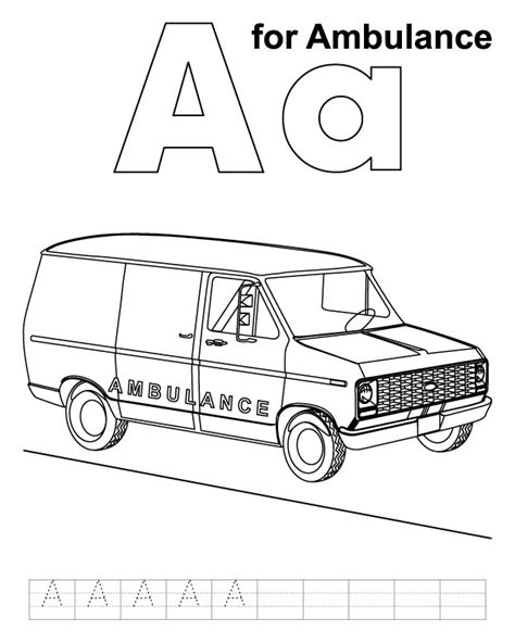 coloring page of an ambulance ambulance coloring pages